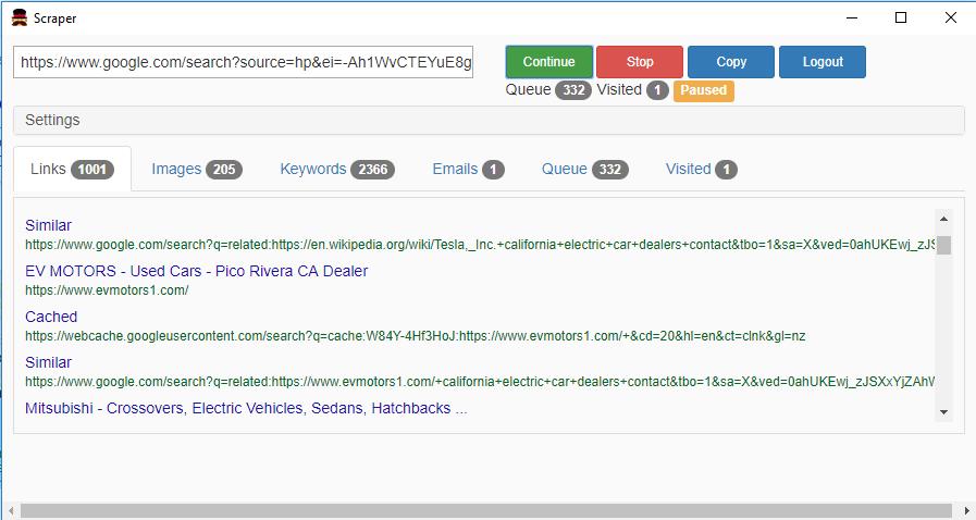 Scraper Crawler - crawl and scrape into search results